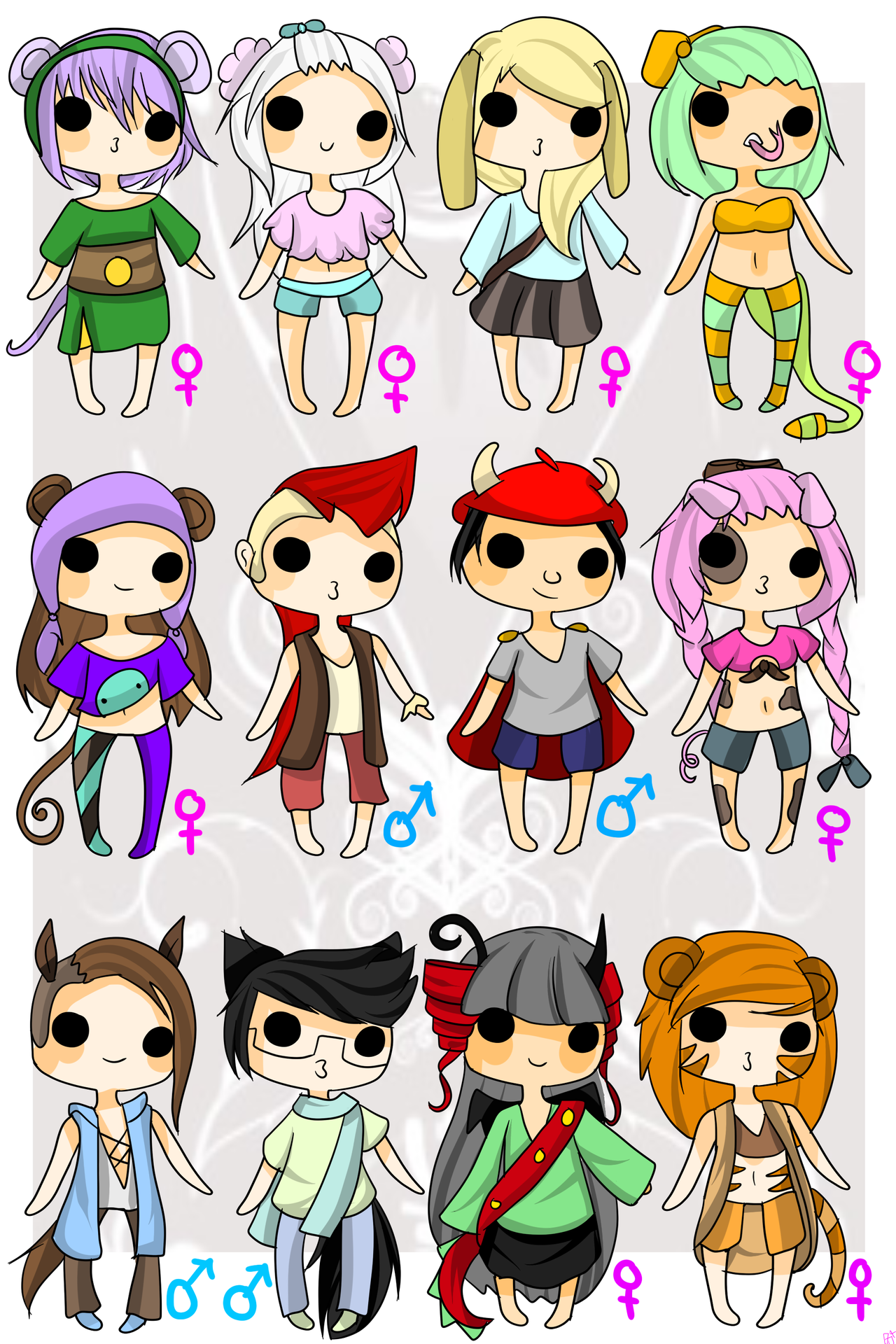 Chinese Zodiac Adopts 50 POINTS(OPEN) by Abis-Adoptables ...