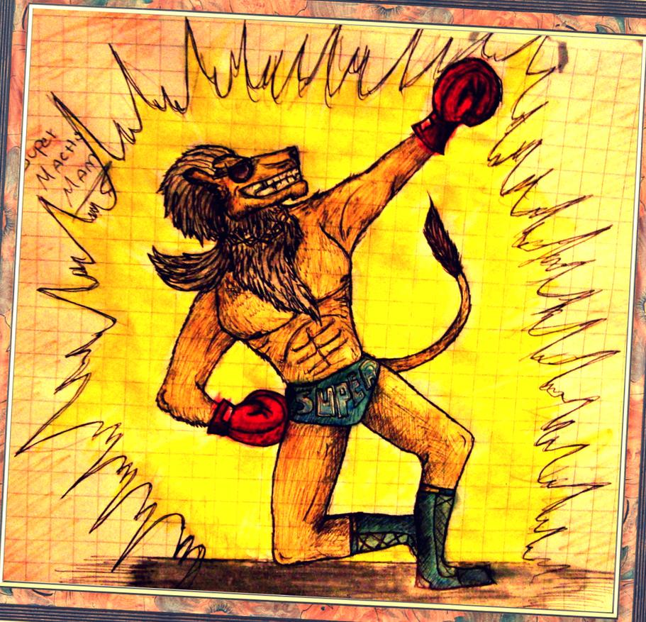 Evolucionando en digital y randoms más [ByXhaps] - Página 2 Super_macho_man__lion__by_drraaggoon-d5xedw9