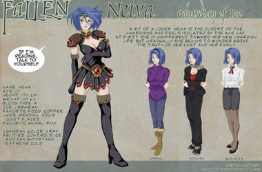 NEIVA Character Design Sheet by OgawaBurukku