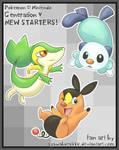 Generation V Starter Pokemon