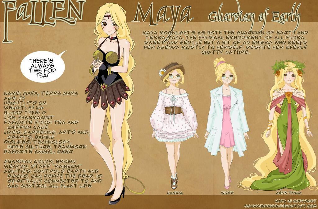 MAYA Character Design Sheet by OgawaBurukku