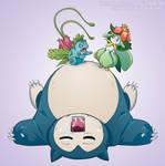Pokemon Drawz Day 5: Ivysaur Lilligant and Snorlax