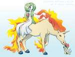 Pokemon Drawz Day 8: Gardevoir Rapidash and Keldeo