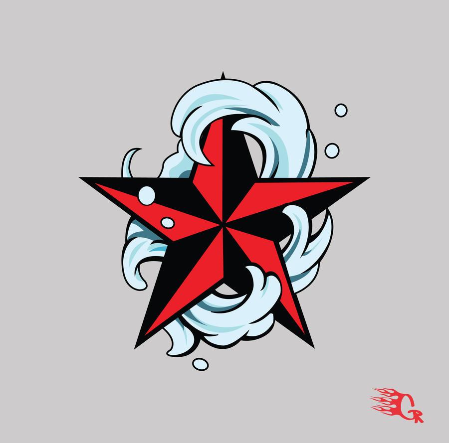 Nautical star design by gaberios on deviantart for Nautical star tattoo design