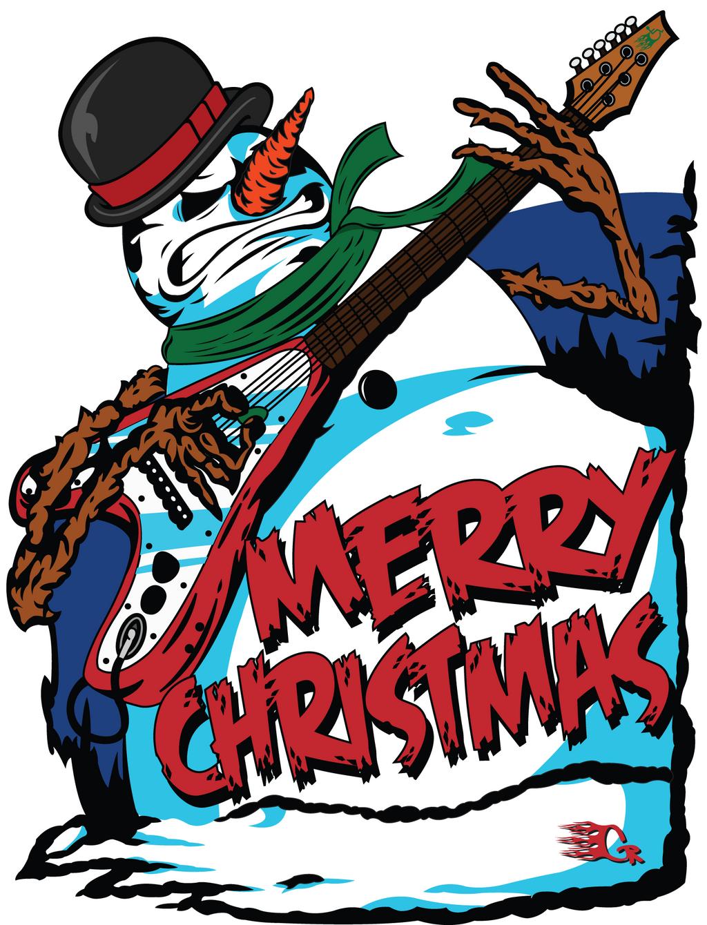 Heavy metal snowman by gaberios on deviantart