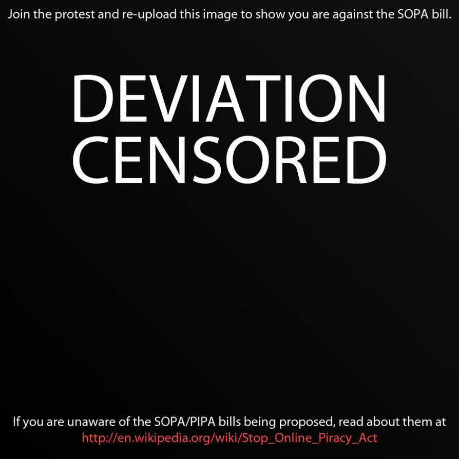Censored Art - STOP SOPA PIPA by MizuuHime