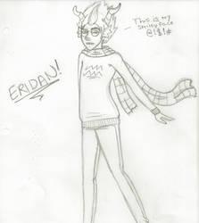 Eridan Sketch by CoraUchiha