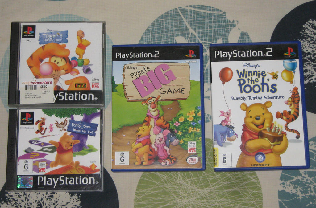 Winnie The Pooh Ps Ps2 Games By Cheerbearsfan On Deviantart