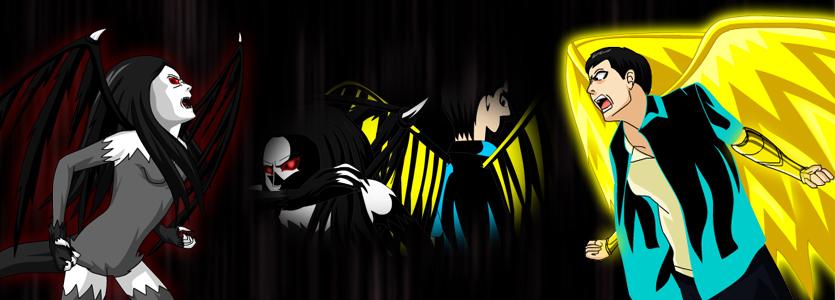 Hero vs Demon by DiamondTheMaster