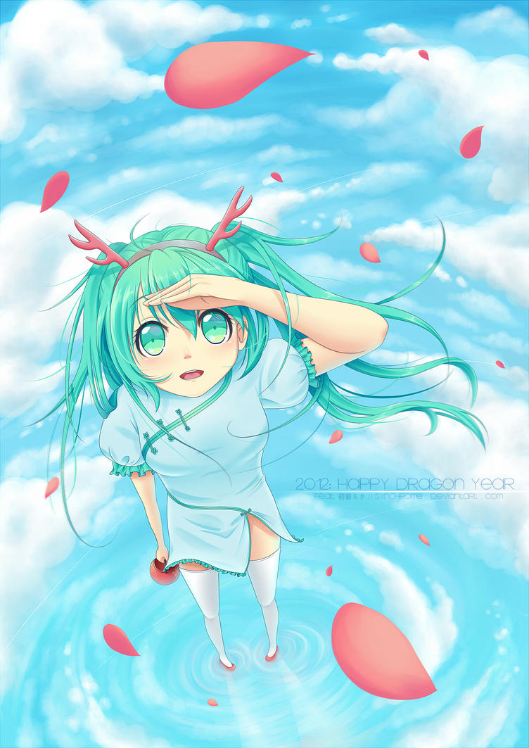 Happy Dragon Year, Miku! by alicenpai