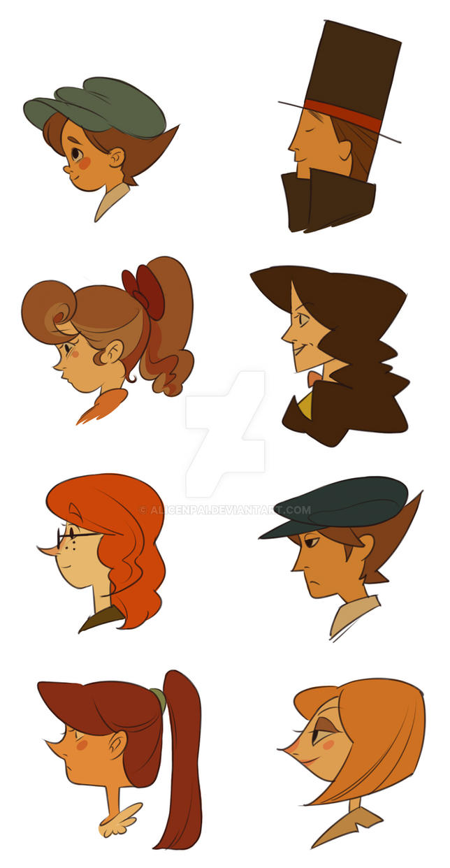 Character Design Artist Job Description : Professor layton character redesigns by alicenpai on