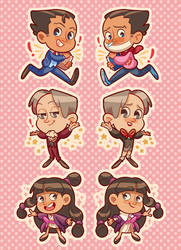 Ace Attorney double sided charms!!