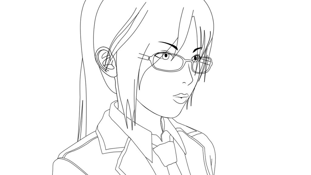 Line Art Glasses : Hikaru line art glasses by lorisor on deviantart