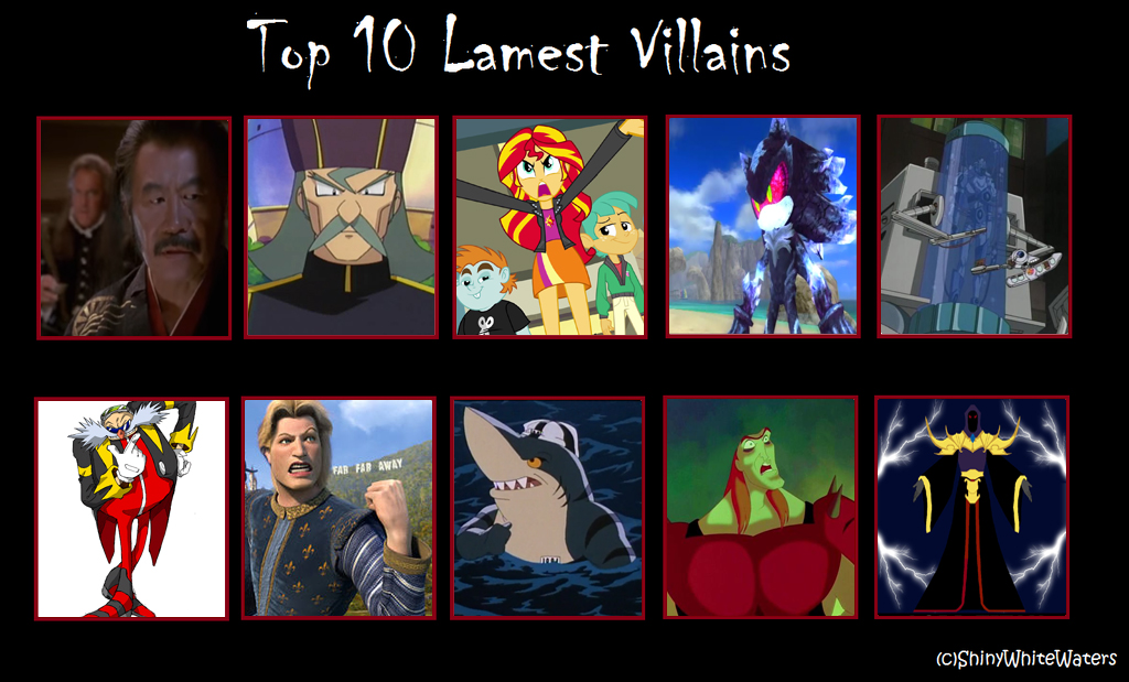 9 Most Annoying Cartoon Characters : My top worst villains excluding supervillains by