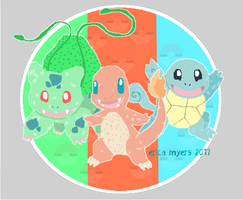 Kanto Starter Sticker by pucapup