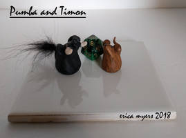 Pumba And Timon Miniatures