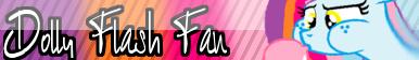 Dolly Flash Fan Button by MidnightStar432
