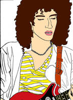 Coloured Brian May by PoppycockFanatic13