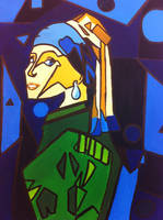The Girl With the Pearl Earring (Abstract) by PoppycockFanatic13