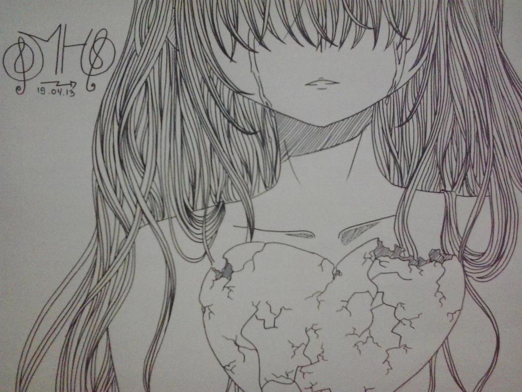 broken hearted girl by rhenshi on deviantart