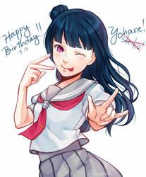 Happy birthday Yohane!! by maesketch