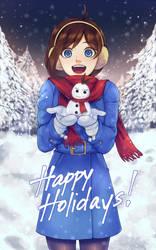 Trucy and Apollo the Mini Snowman