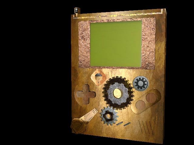 3D Steampunk Gameboy by Ironic-Sarcasm