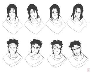 Itachi/Shisui Expressions by lzai