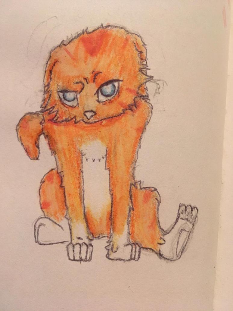 Quick Kitten doodle by RainyWaterproof
