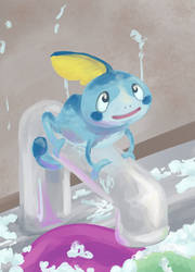 Water Chameleon by Flame-Shadow
