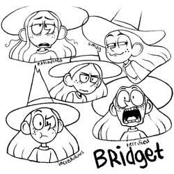 Line drawings of Bridget