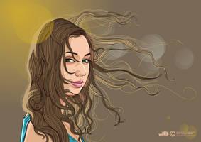 SUMMER GIRL --Vector version--
