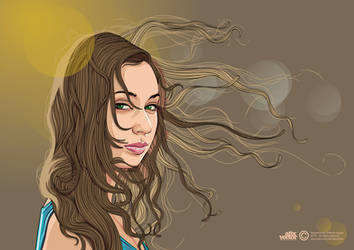 SUMMER GIRL --Vector version-- by AtixVector