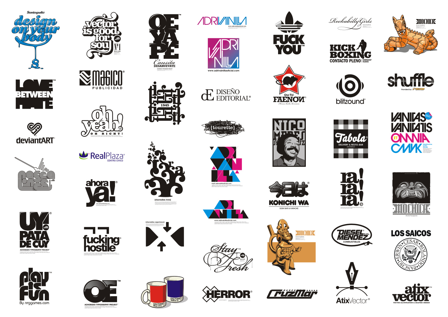Logos and Logotypes 08-10 by AtixVector