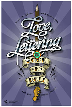 Love, lettering and Rockanroll!