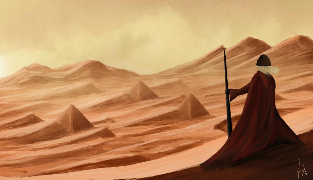 concept art - the wanderer by ChristianBT