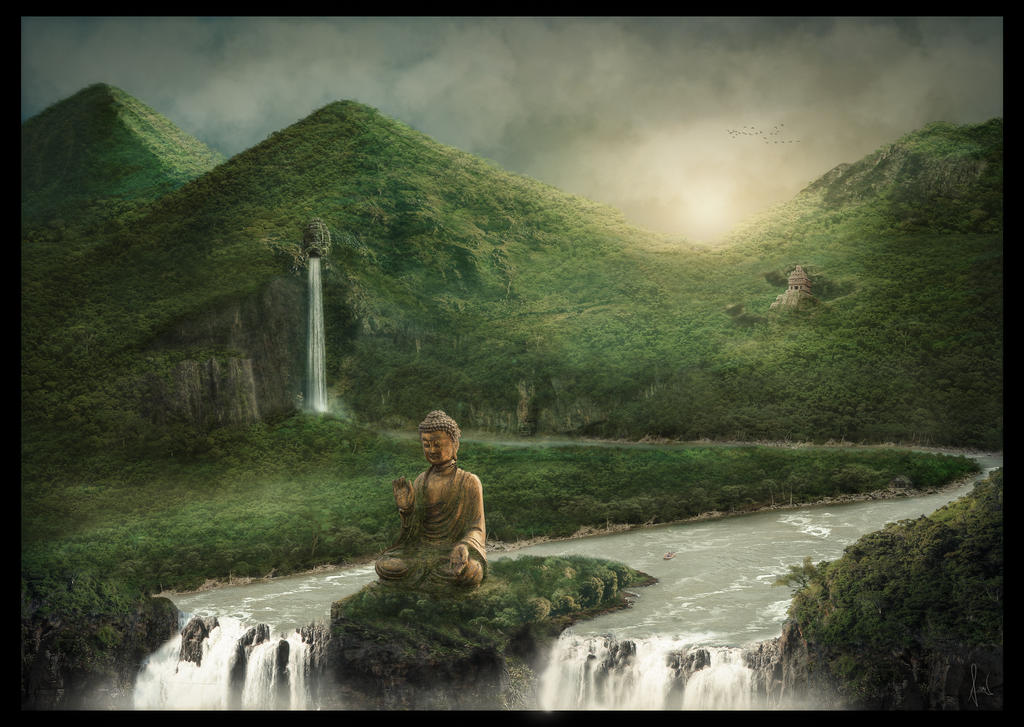 The Buddha - Matte Painting by ChristianBT