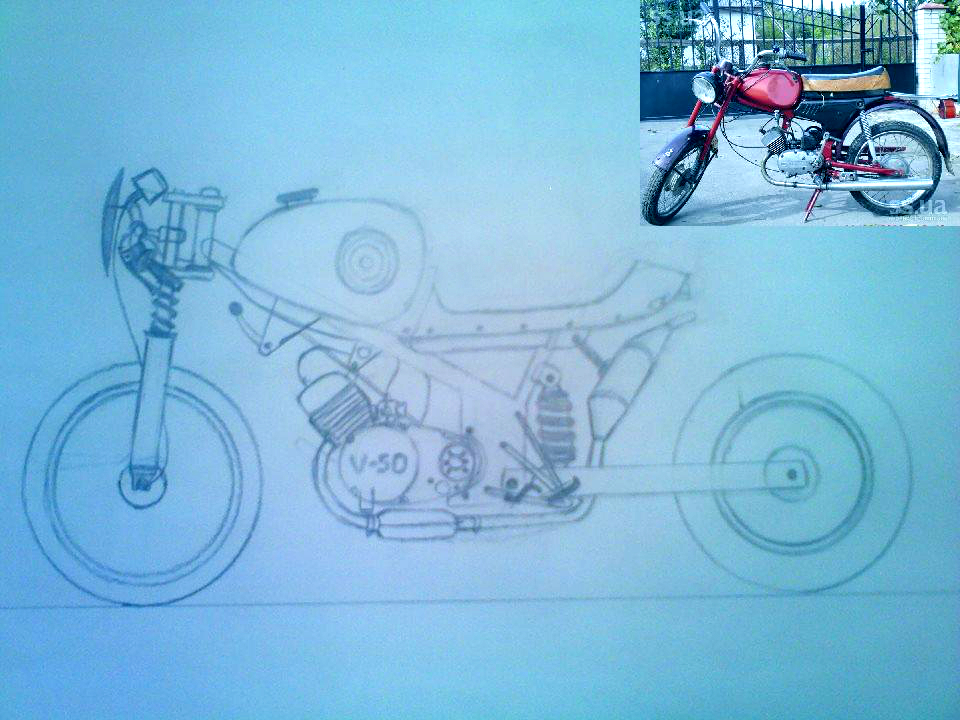 Russian Moped ''Karpati'', modified a little bit by Axel-Sniper