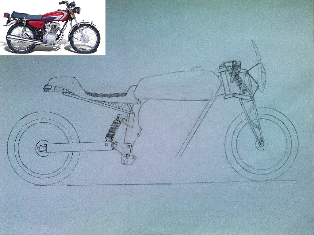 I drawed my ex motorcycle Viper HL-125 by Axel-Sniper