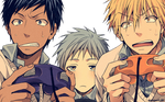 Render:Aomine,kuroko,kise play  a game