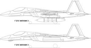 F-27C Warhawk II lineart