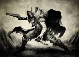 Destiny Hunter - TripleWreck Commission by BrianMoncus