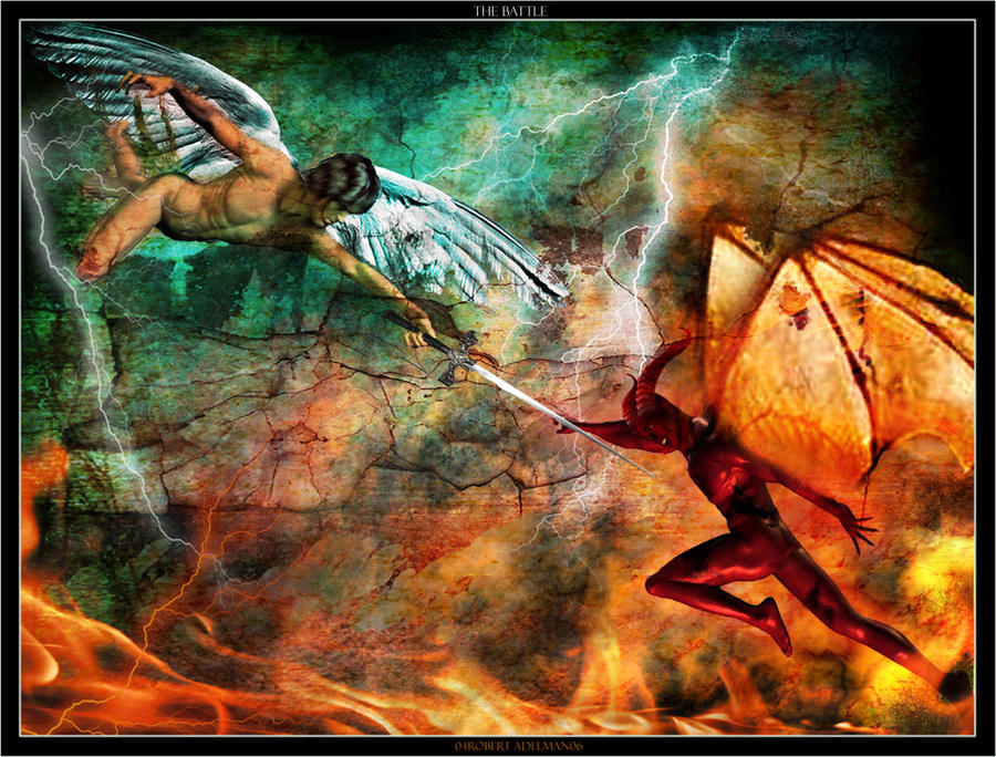 Good vs Evil Battle Wallpaper Battle Between Good And Evil