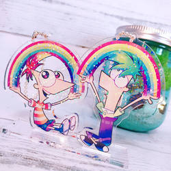 Phineas and Ferb acrylic key chain