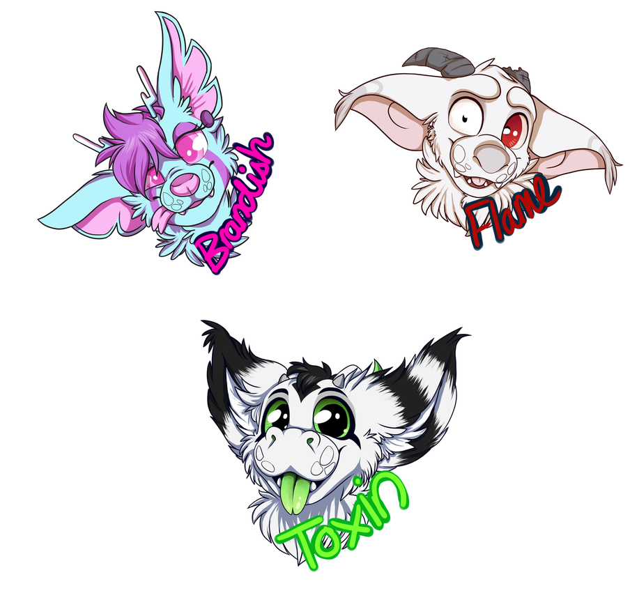 Furry badges by familyof6