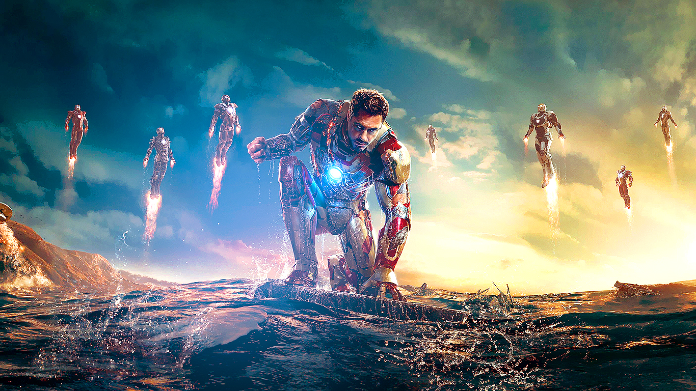 iron man 3 (new wallpaper size)fusions2 on deviantart