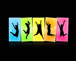 Colourful Jump. by PhysicalMagic