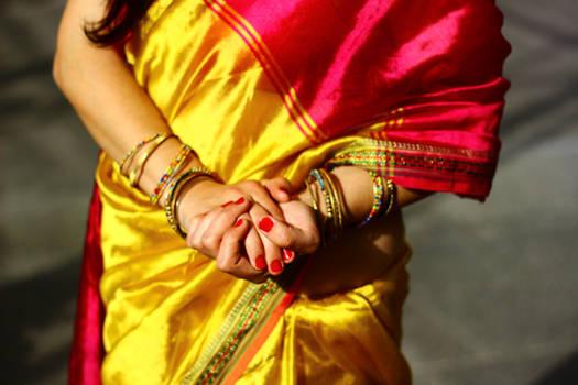 india costume closeup