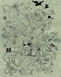 Mind Explosion Lineart by SpectralFairy