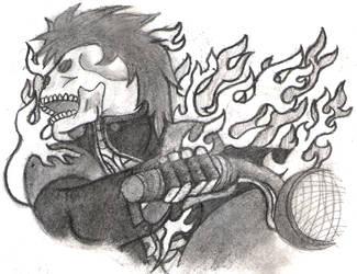 Skull Biker sketch by ChickenChasser